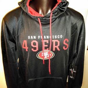 San Fransisco 49ers Dri Fit Performance Hoodie New